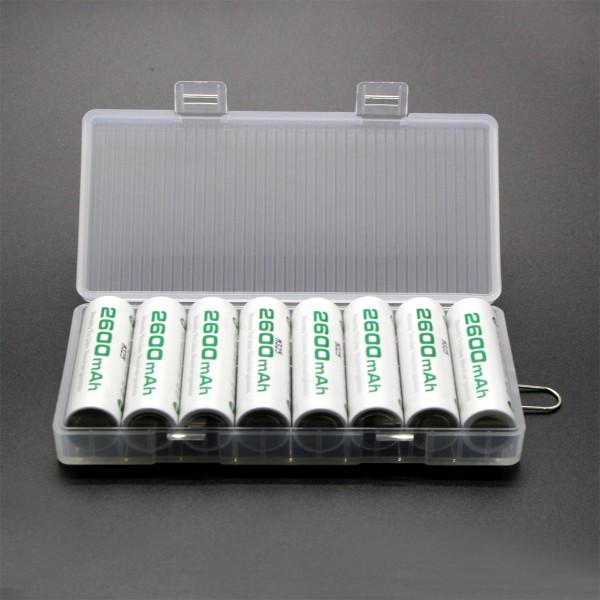 Soshine Batteriebox 8x Mignon (AA), 14500 Soshine SBC-022 (L x B x H) 120 x 57.6 x 19.7 mm