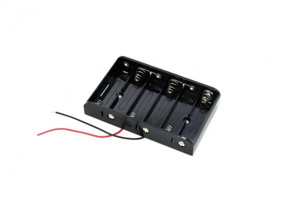 Batteriehalter mit Kabel für 6x AA