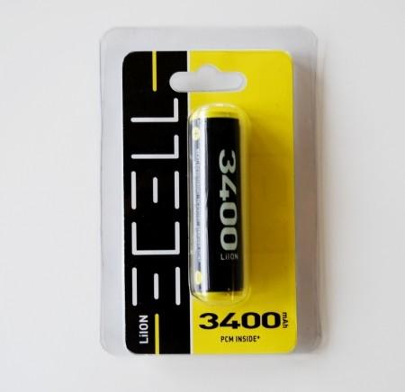 ECELL 18650 LiIon incl. PCB 3,7V/3400mAh im Blister