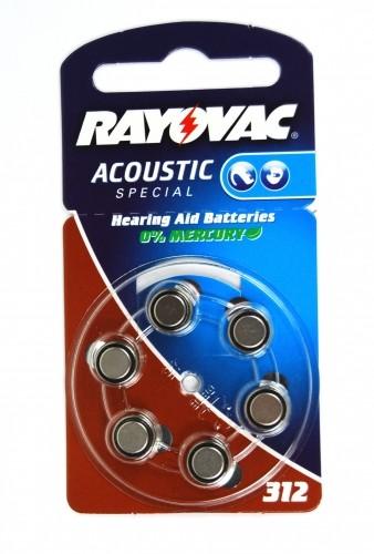 Rayovac Hörgeräte-Batterie 312AC