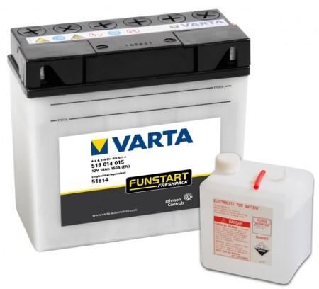 Varta Motorradbatterien Funstart Freshpack 12V VAR518014015