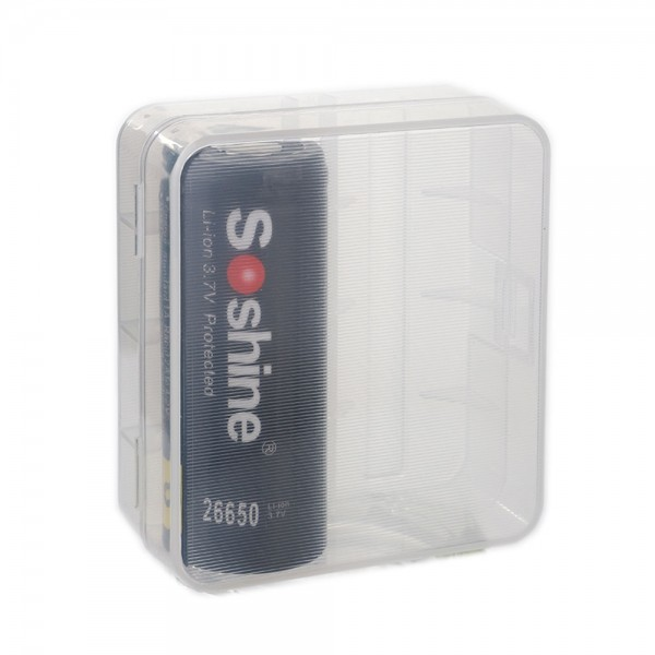Soshine Batteriebox LxBxH: 72,2x54x28mm für 2x 26650