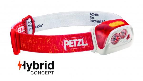 Petzl Classic Stirnlampe ACTIK CORE ROT