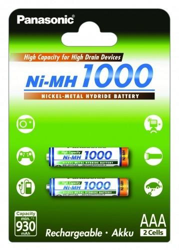 Panasonic Consumer System HR4U 1000 mAh 2er Blister