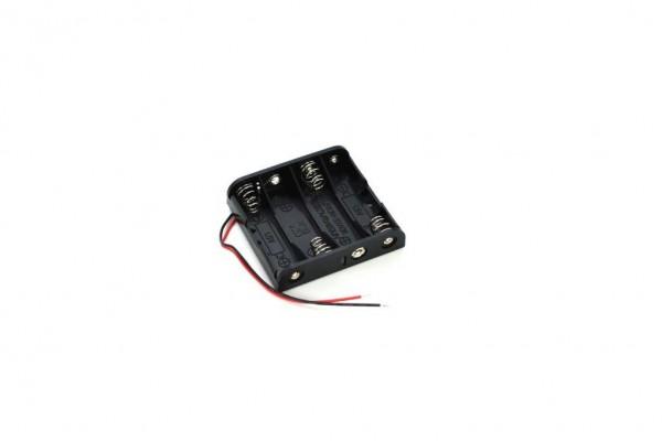 Batteriehalter mit Kabel für 4x AA