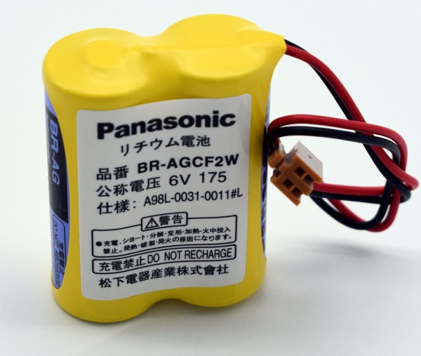 Panasonic Li-Ion Spezialakkupack BRAGCF2W mit Stecker 6 V 2200 mAh