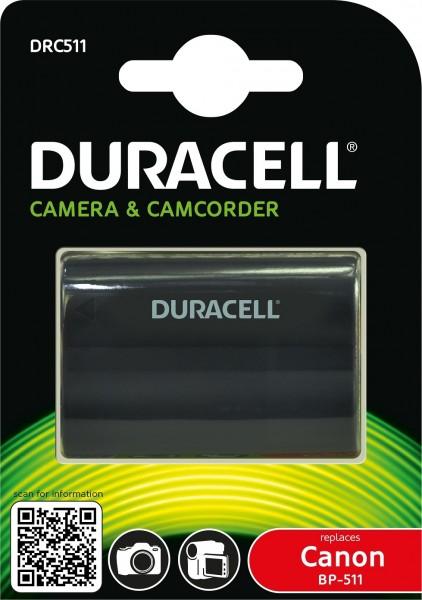 Duracell Digitalkamera und Camcorder Ersatzakku passend für BP-511, BP-512