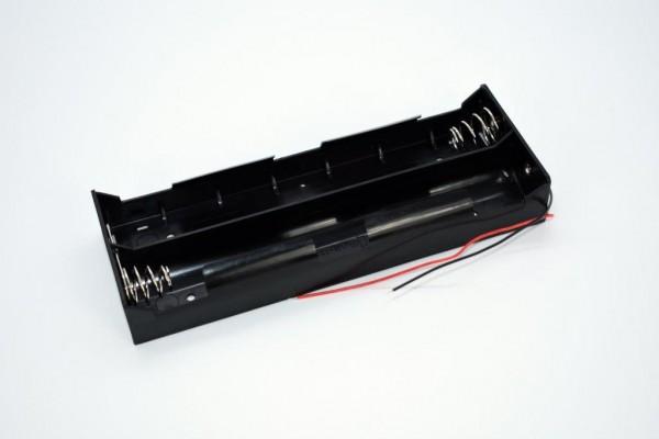 Batteriehalter mit Kabel für 6x D