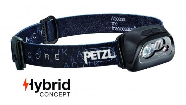 Petzl Classic Stirnlampe ACTIK CORE SCHWARZ