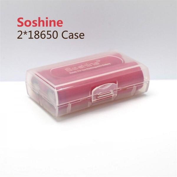 Soshine Batteriebox 2x 18650, 16340 Soshine SBC-012 (L x B x H) 72.2 x 44.6 x 22.2 mm
