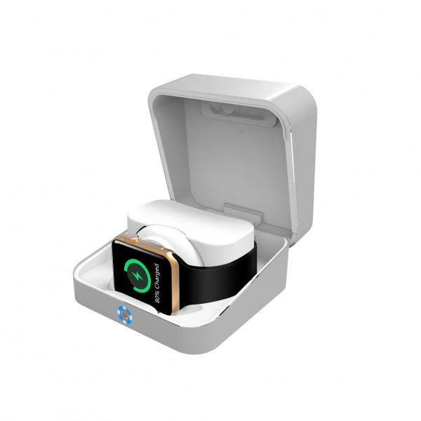 Powerbox+Powerbank Pocket für APPLE Watch 1,2 & 3 (silber)
