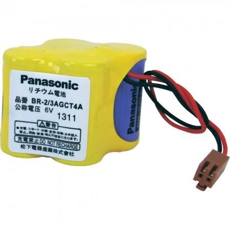 Panasonic Lithium Spezialbatterie BR2/3AGCT4A mit Stecker 6 V 2400 mAh