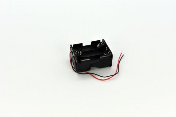 Batteriehalter mit Kabel für 6x AA (Vor-/Rückseite)