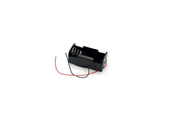 Batteriehalter mit Kabel für 1x D