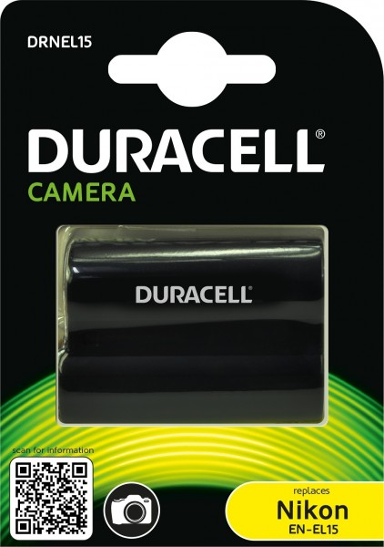 Duracell Digitalkamera und Camcorder Ersatzakku passend fürEN-EL15
