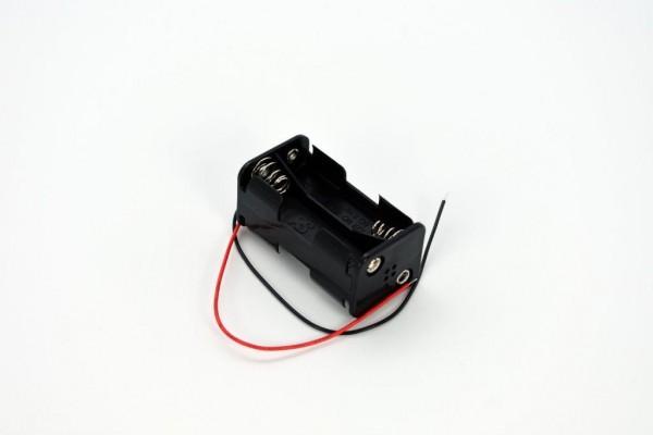 Batteriehalter mit Kabel für 4x AA (Vor-/Rückseite)