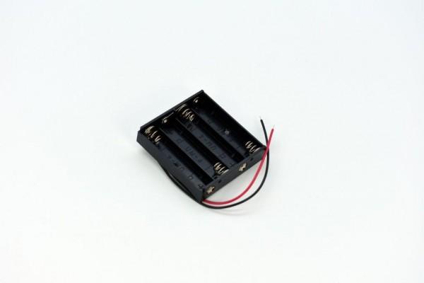 Batteriehalter mit Kabel für 4x AAA