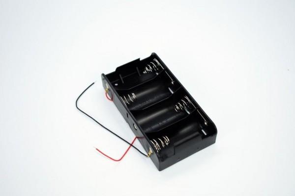 Batteriehalter mit Kabel für 4x D