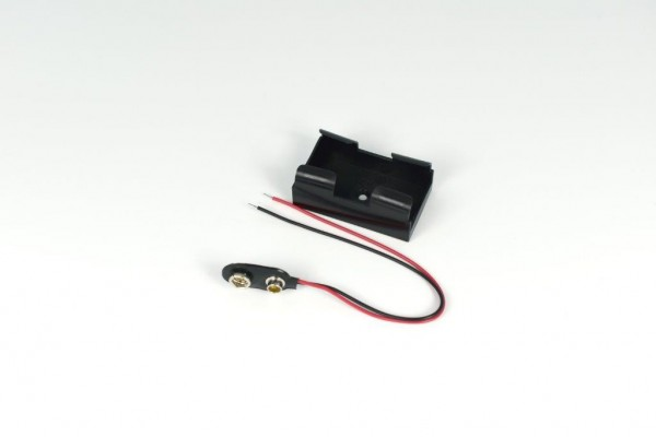 Batteriehalter mit Snap-Terminal + Snap für 1x 9V